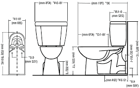 Commode Dimensions Typical Toilet Rough In Measurements Inches