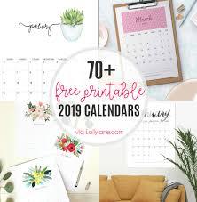 Desk Calendar Printable 2019 Free Printable Calendars Lolly Jane