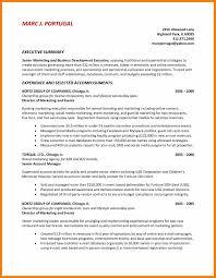 7 Resume Summary Example Activo Holidays