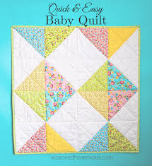 A Simple Baby Quilt that Anyone Can Make & Everyone needs a simple baby blanket or baby quilt pattern in their  arsenal. Find one Adamdwight.com