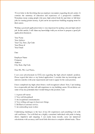 Formal Cover Letter Cover Letter Template For High School Students Cover