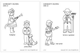 Small Picture Community Helpers Peoples Jobs Printable Templates Coloring