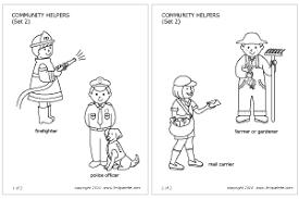 community helpers   people s jobs   printable templates   coloring    community helpers set