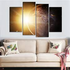 shipment 1 item will be shipped in 2 5 days after a verified payment 2 we offer free shipping by china post ali standard shipping if you need other  on wall art canvas picture print with 4 pieces framed wall art canvas sunlight painting planet earth