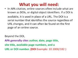 Write A Reference Pagebibliography In Apa Style Ppt Download
