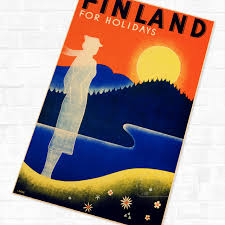 Retro Holidays Us 4 98 Finland For Holidays Travel Landscape Poster Vintage Retro Canvas Painting Diy Wall Stickers Home Posters Art Bar Decor In Wall Stickers