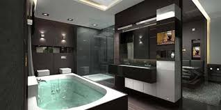 Modern penthouse | Modern Penthouse Apartment Bathroom Interior Design by  Archikron .