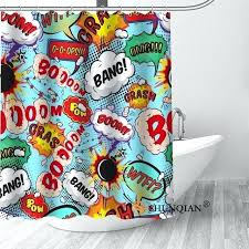 comic shower curtain new comic pop art shower curtain bathroom decorations for home waterproof fabric curtain comic shower curtain