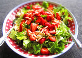 mixed green salad with strawberries.  Strawberries Most Ingredients  For Mixed Green Salad With Strawberries R
