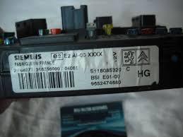 picasso interior fuse box control module siemens s118085320 c bsi citroen picasso interior fuse box control module siemens s118085320 c bsi e01 00 9652474680