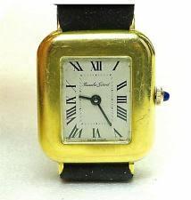 bueche girod wristwatches vintage 60 s 18k yellow gold bueche girod wind up men s unisex wrist watch