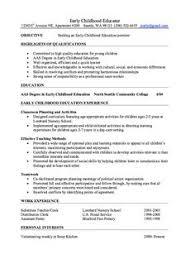 resume template for educators Early Childhood Education Resume 19 Preschool Teacher  Resume .
