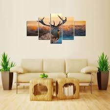 mailingart fiv241 5 panels landscape wall art painting home decor