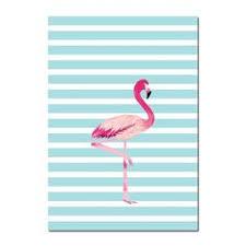 <b>Cartoon Unicorn</b> Flamingo Nursery Posters <b>Prints</b> Wall <b>Art Canvas</b> ...