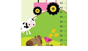 Amazon Com Growth Chart Farm Animals Cow Horse Sheep Pig