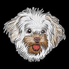 Fototapeta Portrét Psa Na černém Pozadí Ručně Kreslené štěně Ilustrace