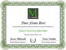 Certification Moore Essentials