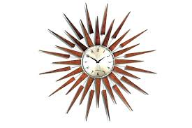 mid century modern wall clocks clock small atomic vintage infinity instruments utopia sunburst