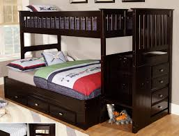 discovery world furniture twin over full espresso staircase bunk beds