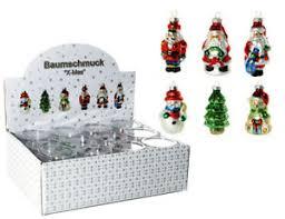 Details Zu 12 Bunte Glas Weihnachtsfiguren 8 Cm Christbaumschmuck Baumschmuck