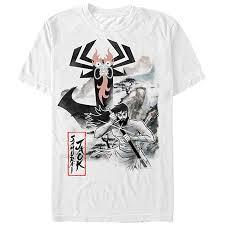 <b>Samurai Jack</b> Men's - <b>Samurai Jack</b> Aku Nature Scene <b>T</b>-<b>Shirt</b>