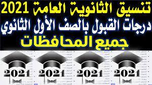 تنسيق الثانوية العامة ٢٠٢١ جميع المحافظات | تنسيق الشهادة الاعدادية 2021 |  درجات القبول للالتحاق بال - YouTube