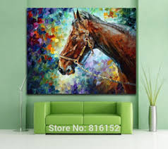 cool office wall art. cool horse palette knife oil painting printed on canvas mural art picture for home office hotel wall decoration discount