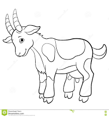Small Picture Coloring Pages Farm Animals Cute Goat Stock Vector Image