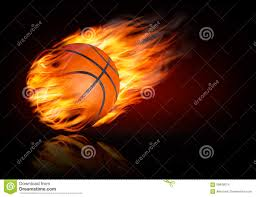 Backgrounds Basketball Basketball Background With A Flaming Ball Stock Vector