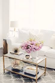 white coffee tables. Living Room, Coffee Table Styling, White And Gold, @homegoods Accessories, @ikea Erktop Sofa Tables