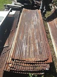 antique standing seam tin roof panel 26 x 90 metal restaurant decor vtg 106 18j