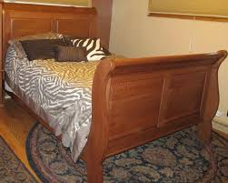 king size sleigh bed. Fine King Custom Made Sleigh Bed Quarter Sawed Oak Queen Size Or King Throughout Z