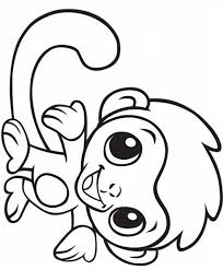 Cute Baby Monkey Coloring Page Free Printable Coloring Pages For Kids