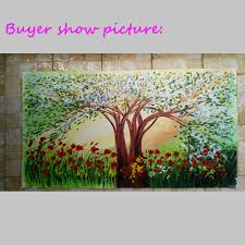 100% Hand Made Unframed Lavender Flowers Blooming Trees High Q. Abstract  Wall Decor Landscape Oil Painting On Canvas-in Painting & Calligraphy from  Home ...