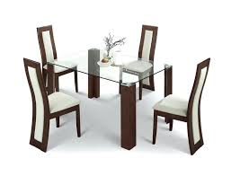 round glass dining tables and chairs for 4 dining chairs amazing white rectangle modern wooden dining