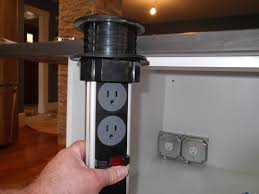 Kitchen Island Outlet Power Grommets In Kitchen Islands Design Build Pros