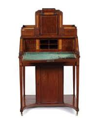 a george iii fiddleback gany satinwood and chequerbanded architectural writing cabinet attributed to john okely
