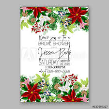 Sample Of Christmas Party Invitation Poinsettia Wedding Invitation Sample Card Beautiful Winter