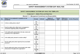 gap analysis template 7 sample safety gap analysis templates free download