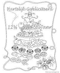 Kleurplaat Gefeliciteerd Trouwdag Kleurplaat Trouwen Huwelijk