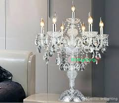 modern desk crystal candelabra centerpieces wedding glass arms can table lamps candle chandelier al