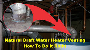 Gas Water Heater Installation Kit Natural Draft Water Heater Venting Safety And Building Code
