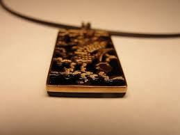 black onyx dragon pendant necklace solid 14k 18k yellow gold scorpio