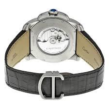 cartier calibre de cartier silver dial men s watch w7100037