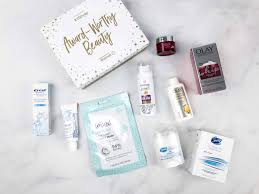 here are all the items in the walmart beauty box x instyle award worthy beauty box