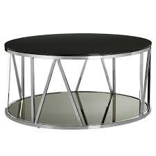 alvaro round chrome finish metal and