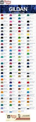 Gildan Shirt Color Chart 2016 Gildan Swatch Color Chart Custom T Shirts From Monkey In A