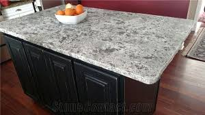 island in bianco antico granite honed finish with a rock edge detail