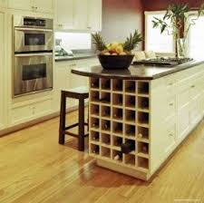 Kitchen island wine rack 1