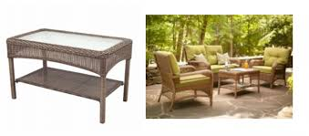 weather wicker patio coffee table